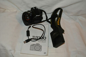 Nikon  D3200 24.2 MP Digital Camera Body only- very low shutter count Excellent