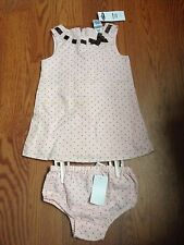 Old Navy Baby 2 Piece Set Dress Girls Pink Size 6-12 Months ~ BRAND NEW