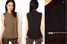 Vero Moda Blouse With Pocket Detail Bungee Grey Size UK XL/16