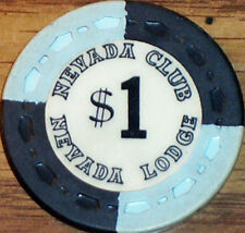 New listing Old $1 Nevada Club Casino Poker Chip Vintage Antique Small Crown Mold Reno 1964