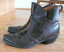 1960-70 Acme Short Boots Made in Usa 1940 Vintage Style Square Toe 9 1/2 D as is