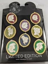 Disney Pin Trading Disney Princesses 8 Pin Silhouette Complete Set