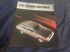 1982 Ford Escort Color Brochure Catalog  Prospekt