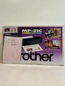 Brother MP-21C Mobile Inkjet Printer New Open Box + 2 Ink Cartridges Bundle