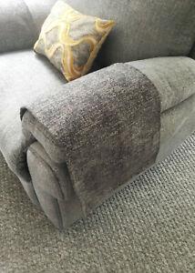 GREY SPEC X 1 Chair Arm Back Cover Antimacassar Sofa Armchair Protect MID GREY