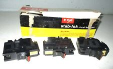3 FEDERAL PACIFIC Circuit  Breaker Stab-Lock 40 Amp double Two 15 Amp Singles