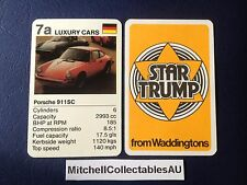 Waddington Star Trump 1978 Single card Luxury Cars Porsche 911SC German