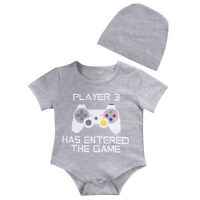Player 3 Newborn Baby Boy Girl Funny Romper Bodysuit Jumpsuit Clothes Outfits