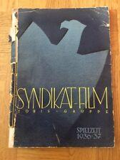 """Tobis """"Syndikat-Film"""" Spielzeit 1936/37 - Filmheft"""