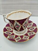 Royal Albert Bone China Tea Coffee Cup & Saucer Royal Series Windsor Wine Color