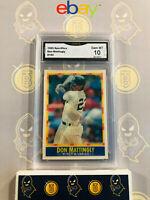 1990 Sportflics Don Mattingly #150 - 10 GEM MT GMA Graded Baseball Card