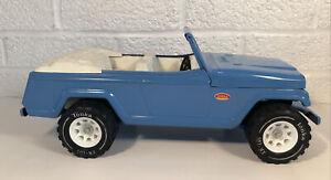 Vintage Tonka Blue Jeepster Jeep Truck Pressed Steel Toy Clean