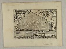 Orléans DRACHEN Kartusche Original Kupferstich um 1670 Stadtansicht FRANKREICH
