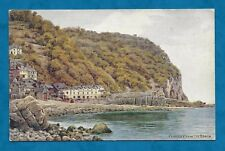 C1930'S A. R. QUINTON PC CLOVELLY FROM THE BEACH PUB. BY SALMON
