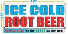 ICE COLD ROOT BEER Banner Sign NEW Larger Size Best Quality for The $$ Fair Food
