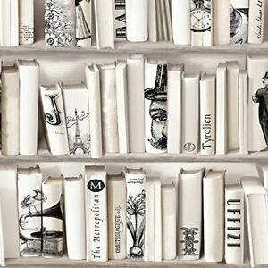 Muriva Encyclopedia Wallpaper -Bookcase Library Study Book Shelf Case 572217