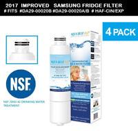 4x DA29-00020B REPLACEMENT FRIDGE FILTER Samsung  SRF801GDLS,SRF731GDLS &More