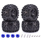 4x ZD Racing 12mm HEX Wheels Tires for 1/10 Monster Truck Traxxas Scx10 RC Car