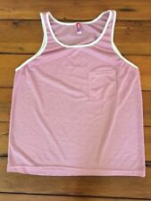 American Apparel Rainbow Collection Pastel Pink Scrimmage Mesh Tank Top Shirt 40