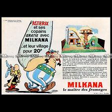 ASTERIX & les Fromages MILKANA 'Le village' 1967 - Pub / Publicité / Ad #B6