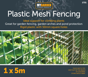 New Plastic Mesh Garden Netting Fencing Plant Barrier Green Chicken Wire 5m Roll