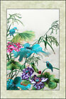 Exquisite Chinese SuZhou Embroidery Art Painting The Lotus And  The Birds