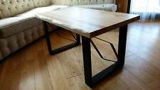 Rustic ash wood solid handmade coffe table
