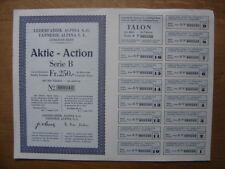 Bond Action Titre LEDERFABRIK ALPINA A G TANNERIE S A GUMLIGEN BERN emprunt