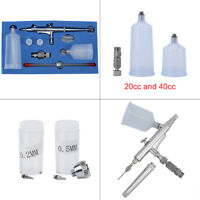 0.2/0.3/0.5mm Gravity Feed Dual Action Air Brush Kit For Hobby Tattoo Craft Tool