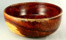 ! Vintage Hawaiian Hand Carved Single-Piece KOA Wood Large Bowl