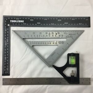 """METAL ROOFING RAFTER SET SQUARE COMBINATiON 300mm  6"""" SPEED SQUARE ALLOY RAFTER"""