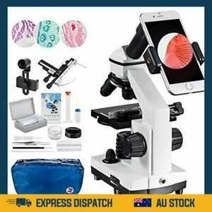 2000x Microscope Moving Ruler Compound Microscope for Students and Kids LED AU