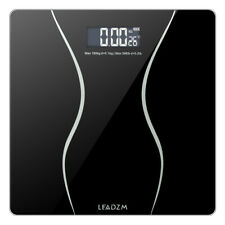 LEADZM Digital Electronic LCD 180Kg/396LB Body Weight Personal Scale Black