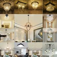 Modern Crystal LED Ceiling Light Fixture Pendant Lamp Lighting Chandelier USA