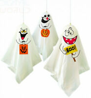 Unique Party 88048 - Ghost Halloween Hanging Decorations, Pack of 3 Multi