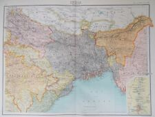Maps of Eastern India. 1898 Original Ganges. Bengal. Asia Antique