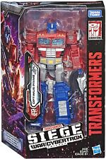 "TRANSFORMERS Optimus Prime WFC S11 Voyager Class 7"" Siege Original Brand New Toy"