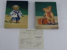 Fabrice de Villeneuve Giclee Two ( 2 )Bear Prints -  8 1/4 x 11 3/8 inches each