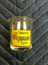 Vintage Log Cabin's Wigwam Syrup Double Pour Glass Individual Server