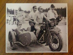 STEVE MCQUEEN JAMES GARNER COBURN MOTORCYCLE SIDECAR THE GREAT ESCAPE 8X10 PHOTO