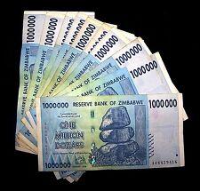 10 x Zimbabwe 1 Million Dollar banknotes-currency