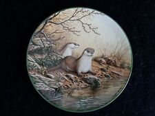 Royal Doulton 'Otter Pair On A River Bank' Collectors Plate 1988
