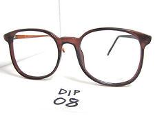 Vintage 1980s DIPLOMAT Round Eyeglasses Frame 55mm Vertical Height (DIP-08)