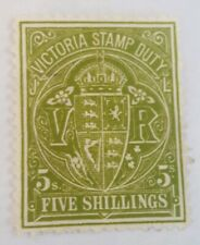 Victoria....(5 shillings GREEN ) Stamp Duty..