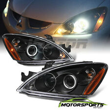 [LED Halo] 2004 2005 2006 2007 Mitsubishi Lancer Black Projector Headlights Pair