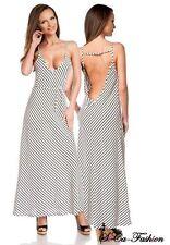 Gestreifte ärmellose bodenlange Damenkleider für