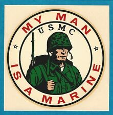 "VINTAGE ORIGINAL 1965 MARINES SOUVENIR ""MY MAN IS A MARINE"" USMC WATER DECAL ART"
