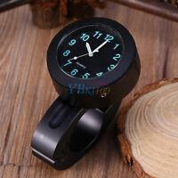 "Universal 7/8""-1"" Waterproof Motorbike Handlebar Mount Clock Glow Watch New"
