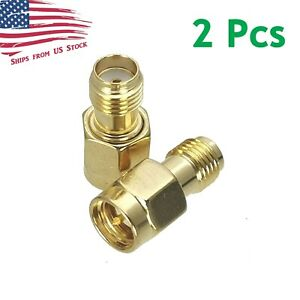 2Pcs SMA Female to SMA Male Series RF Coaxial Adapter Connector 2X US Stock