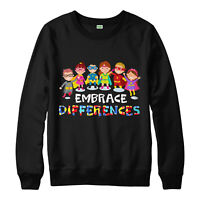 Autism Jumper, Embrace Differencess, I Love Autism, Adult & Kids Jumper Top